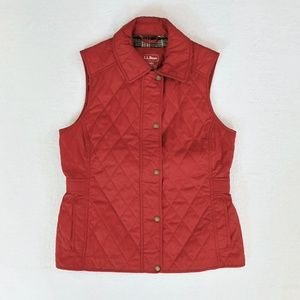 LL Bean Lightweight Quilted Fall Vest